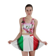 Italy Country Nation Flag Mini Skirt