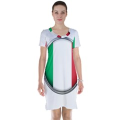 Italy Country Nation Flag Short Sleeve Nightdress