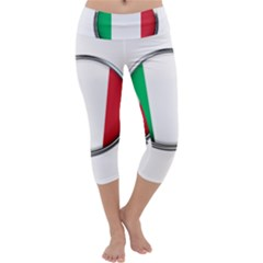 Italy Country Nation Flag Capri Yoga Leggings by Nexatart