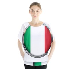 Italy Country Nation Flag Blouse