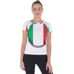 Italy Country Nation Flag Short Sleeve Sports Top