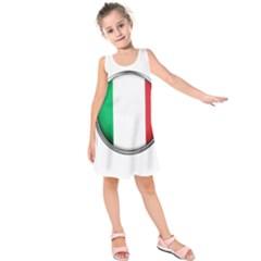 Italy Country Nation Flag Kids  Sleeveless Dress