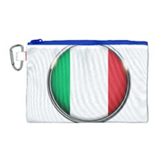 Italy Country Nation Flag Canvas Cosmetic Bag (large)