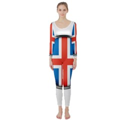 Iceland Flag Europe National Long Sleeve Catsuit
