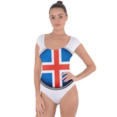 Iceland Flag Europe National Short Sleeve Leotard