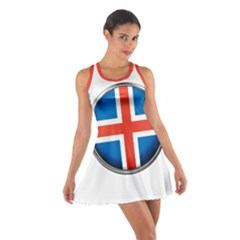 Iceland Flag Europe National Cotton Racerback Dress