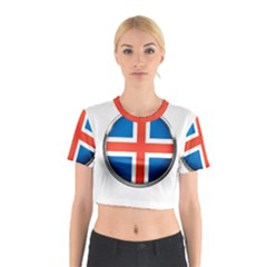 Iceland Flag Europe National Cotton Crop Top