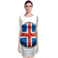 Iceland Flag Europe National Classic Sleeveless Midi Dress