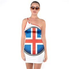 Iceland Flag Europe National One Soulder Bodycon Dress