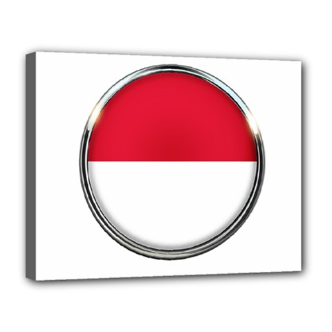 Monaco Or Indonesia Country Nation Nationality Canvas 14  X 11