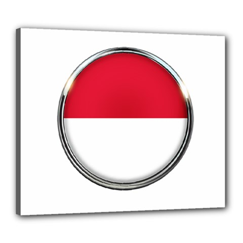Monaco Or Indonesia Country Nation Nationality Canvas 24  X 20