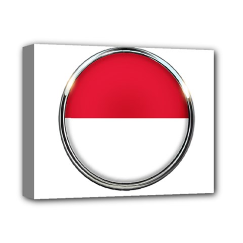 Monaco Or Indonesia Country Nation Nationality Deluxe Canvas 14  X 11