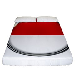 Monaco Or Indonesia Country Nation Nationality Fitted Sheet (queen Size)