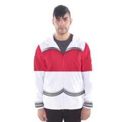 Monaco Or Indonesia Country Nation Nationality Hooded Wind Breaker (men)