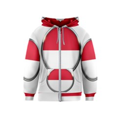 Monaco Or Indonesia Country Nation Nationality Kids  Zipper Hoodie