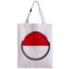 Monaco Or Indonesia Country Nation Nationality Zipper Classic Tote Bag