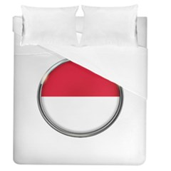 Monaco Or Indonesia Country Nation Nationality Duvet Cover (queen Size)