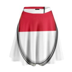 Monaco Or Indonesia Country Nation Nationality High Waist Skirt