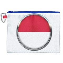 Monaco Or Indonesia Country Nation Nationality Canvas Cosmetic Bag (xxl)