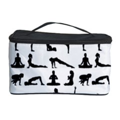 Yoga Pattern Cosmetic Storage Case by Valentinaart