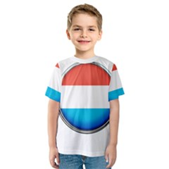Luxembourg Nation Country Red Kids  Sport Mesh Tee
