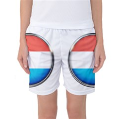 Luxembourg Nation Country Red Women s Basketball Shorts