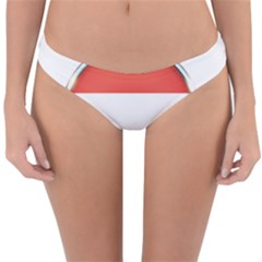 Luxembourg Nation Country Red Reversible Hipster Bikini Bottoms