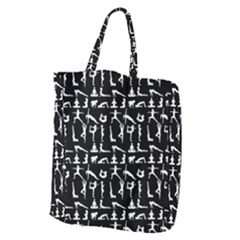 Yoga Pattern Giant Grocery Zipper Tote by Valentinaart