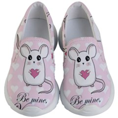 Cute Mouse   Valentines Day Kid s Lightweight Slip Ons