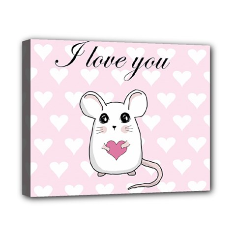 Cute Mouse   Valentines Day Canvas 10  X 8  by Valentinaart