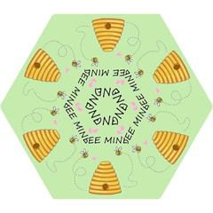 Bee Mine Valentines Day Mini Folding Umbrellas by Valentinaart