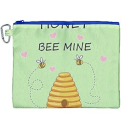 Bee Mine Valentines Day Canvas Cosmetic Bag (xxxl) by Valentinaart