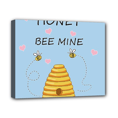 Bee Mine Valentines Day Canvas 10  X 8  by Valentinaart