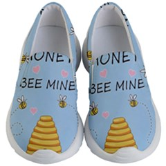 Bee Mine Valentines Day Kid s Lightweight Slip Ons by Valentinaart