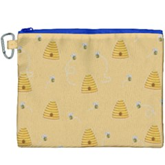 Bee Pattern Canvas Cosmetic Bag (xxxl) by Valentinaart