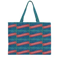 Valentine Day Pattern Zipper Large Tote Bag by dflcprints