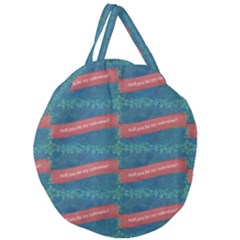 Valentine Day Pattern Giant Round Zipper Tote by dflcprints