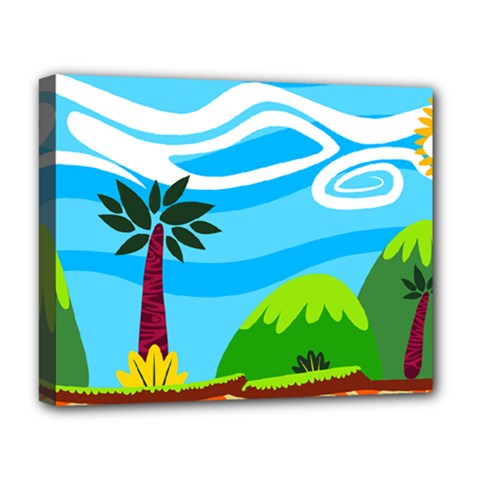 Landscape Background Nature Sky Deluxe Canvas 20  X 16