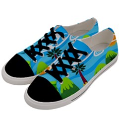 Landscape Background Nature Sky Men s Low Top Canvas Sneakers by Nexatart