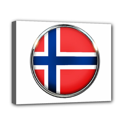 Norway Country Nation Blue Symbol Canvas 10  X 8