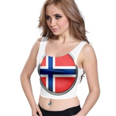 Norway Country Nation Blue Symbol Crop Top