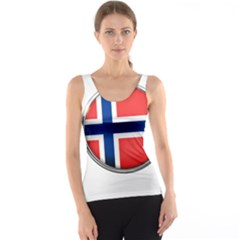 Norway Country Nation Blue Symbol Tank Top