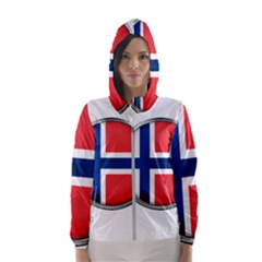 Norway Country Nation Blue Symbol Hooded Wind Breaker (women)