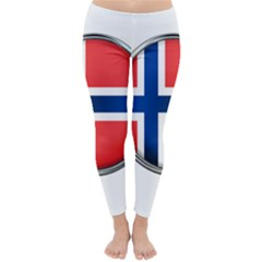 Norway Country Nation Blue Symbol Classic Winter Leggings