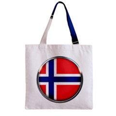 Norway Country Nation Blue Symbol Zipper Grocery Tote Bag