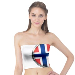 Norway Country Nation Blue Symbol Tube Top