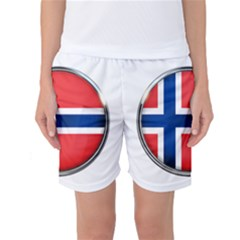 Norway Country Nation Blue Symbol Women s Basketball Shorts