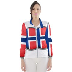 Norway Country Nation Blue Symbol Wind Breaker (women)