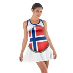 Norway Country Nation Blue Symbol Cotton Racerback Dress