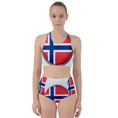 Norway Country Nation Blue Symbol Racer Back Bikini Set